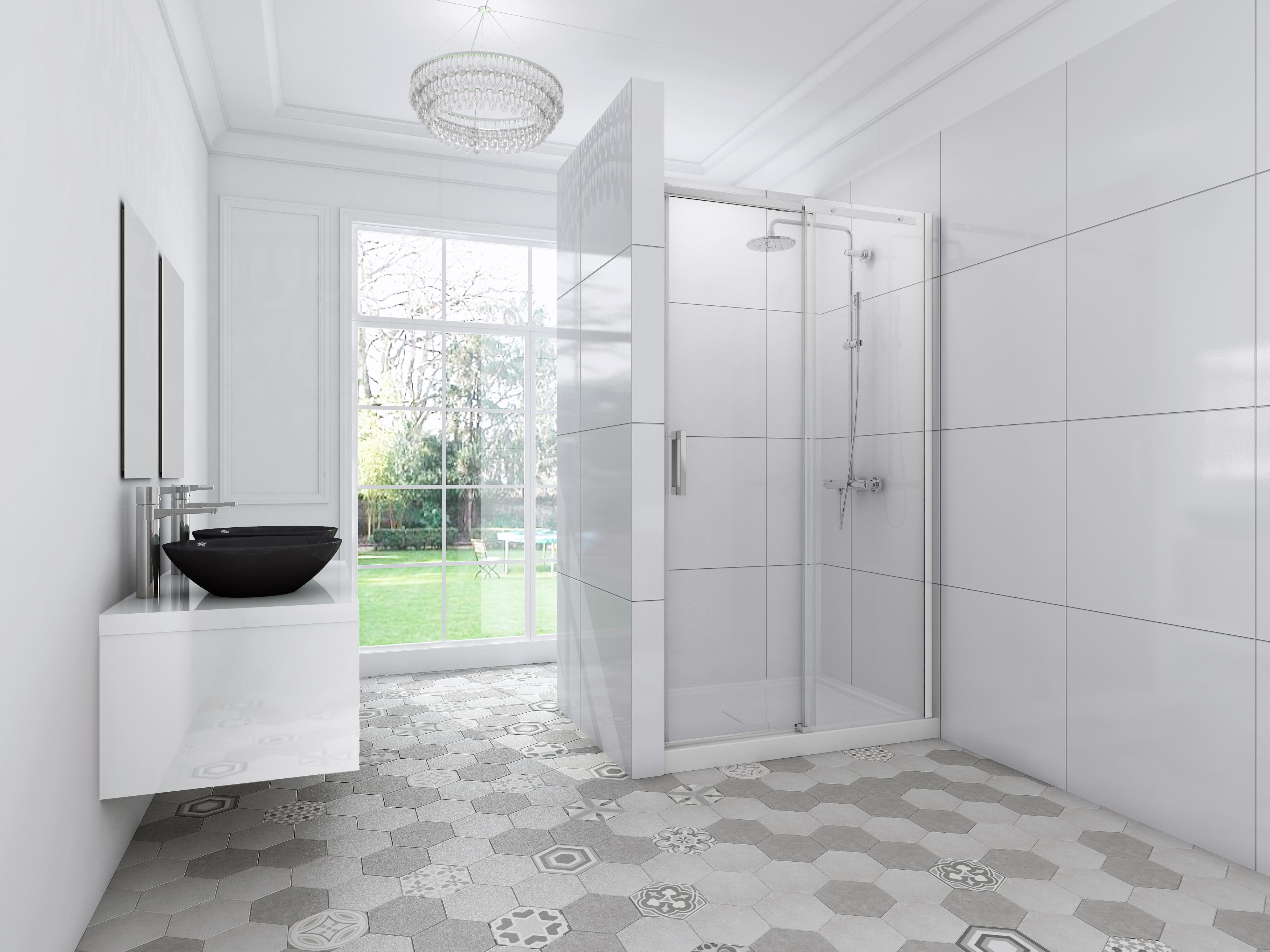 verre de douche trendy paroi de douche en verre serigraphie nouveau vitre douche salle de bain. Black Bedroom Furniture Sets. Home Design Ideas