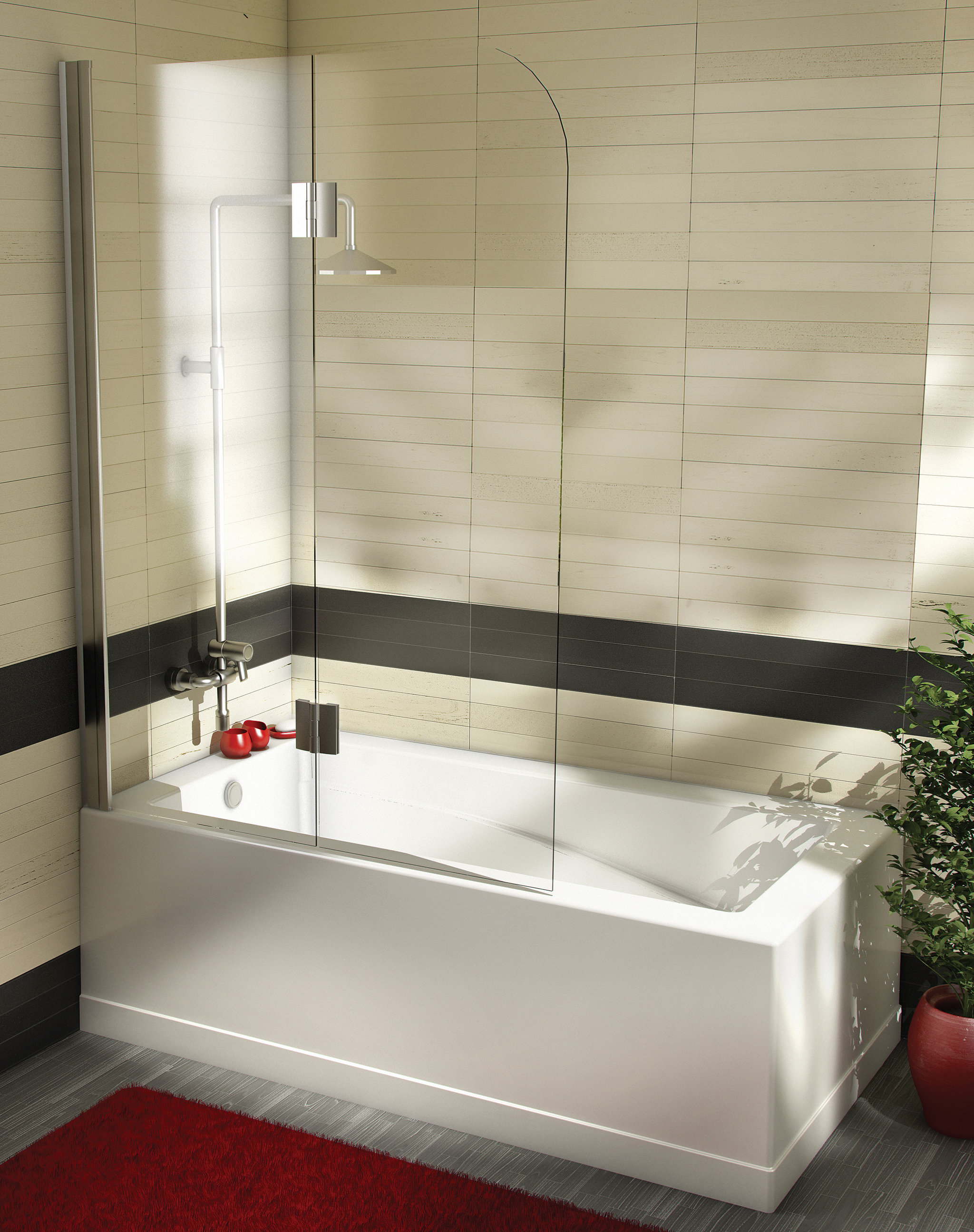baignoire douche avec porte. Black Bedroom Furniture Sets. Home Design Ideas